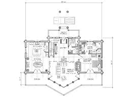beartooth log home plan
