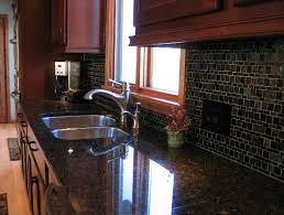 what backsplash looks with cherry cabinets home design ideas and diy project