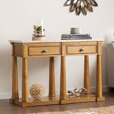 Pine Console Table Shop Boston Loft Furnishings Granddell Pine Console Table At Lowes Com