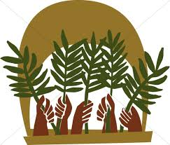 palms for palm sunday with palm fronds palm color palm sunday clipart
