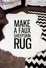 Faux Fur Sheepskin Rug Make A Faux Sheepskin Rug Honeybear Lane