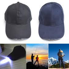 running hat with lights aliexpress com buy led baseball cap new unisex outdoor 5 led light