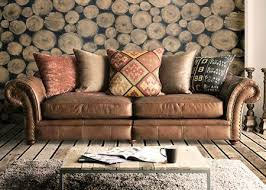 Fabric Or Leather Sofa Leather And Fabric Sofa Collection From Tannahill