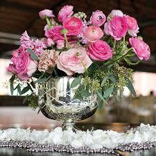 Silver Vases Wedding Centerpieces Silver Mercury Bowl Wedding Centerpieces Silver Weddings