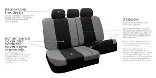 3 row seat covers suv van 5 colors airbag compatible split bench 7
