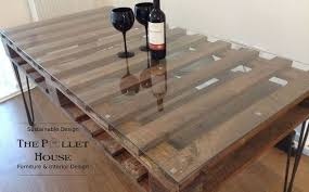 repurposed dining table dining room table made of salvage pallet hometalk