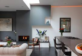 living room kitchen combo paint ideas dark gray wall color small