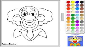 clown face online coloring page online game coloring page game