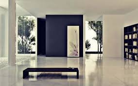 3 bright and unique inspirations for home interior design minimalist home interior design with accent black wall and free standing black bookshelf