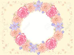 shabby chic themed frame featuring intertwined flowers royalty