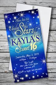 under the stars sweet 16 birthday party invitation 1 33 each