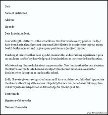 teacher resignation letter format templatezet