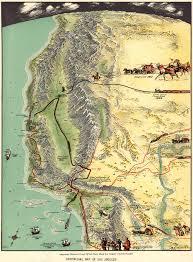 Maps Los Angeles by Eddy U0027s Gorgeous U201chistory Of Los Angeles U201d Map 1929