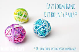 diy bouncy balls a great way to use up rainbow loom bands