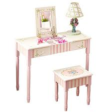 Kid Vanity Table And Chair Fantasy Fields Bouquet Thematic Kids Flip Top Mirror Vanity