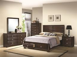 Storage Bed Sets King Storage Bed 6 Bedroom Set In Rich Cappuccino Finish By