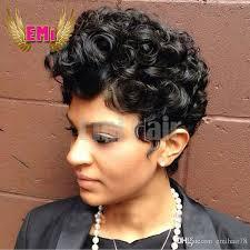 is island medium hair a wig short human hair wig tight curly pixie cut wigs brazilian haman hair
