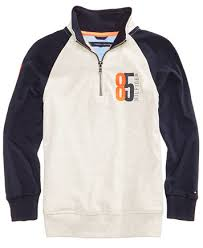 sweaters boys hilfiger half zip raglan cotton sweater big boys sweaters