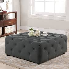 baxton studio teague gray linen modern tufted ottoman free
