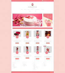 website template 49363 sweets house candy custom website template