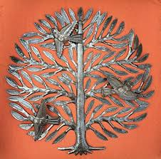 Metal Tree Wall Decor Family Tree Haitian Drum Art Metal Tree Wall Decor Tree Of Life