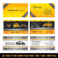 business card templates for taxi service vector image 17188