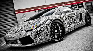 all white lamborghini illusion graffitist jona cerwinske was commissioned to draw all