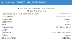film boruto the movie di indonesia boruto naruto the movie lulus sensor dan siap tayang di indonesia
