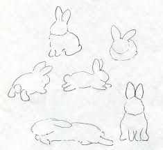 rabbit shape drawings how to draw a bunny drawing and painting
