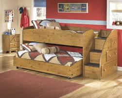 low wood bunk bed with stair and trundle bed of 16 compact and