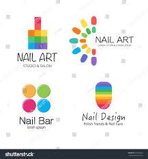 vector logotype design nail salon studio stock vector 375800629