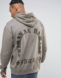 criminal damage men hoodie london store criminal damage men
