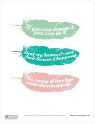 free printable feather quote bookmarks botanical