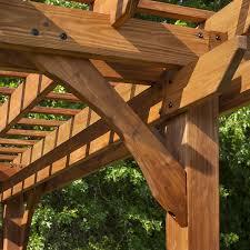 Pergola Swing Set Plans by Amazon Com Backyard Discovery Cedar Pergola 12 U0027 X 10 U0027 Assembly