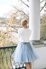 how to wear a light blue tulle skirt 7 looks women u0027s fashion