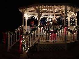 Lighted Music Gazebo by Dothan Area Botanical Gardens Hosts Christmas Walking Tours With