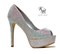 gray wedding shoes swarovski shoes bridal bling bridal shoes