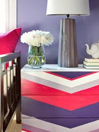 How To Repaint A Nightstand How To Paint A Chevron Patterned Dresser Hgtv Design Star Hgtv