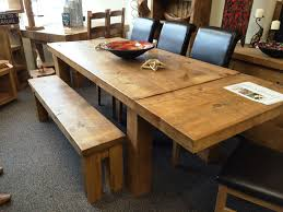 extendable kitchen table and chairs rustic chunky extending dining table solid wood plank choose your
