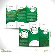 Tri Fold Program Green Tri Fold Brochure Design Stock Images Image 35081394