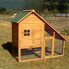 Advantek Stilt House Rabbit Hutch Amazon Com Aleko Wooden Pet House Poultry Hutch Rabbits Chickens
