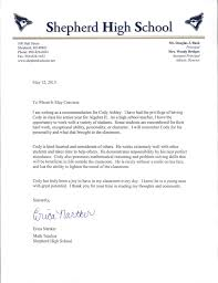 collection of solutions personal letter of recommendation for high
