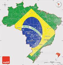 map of brazil flag simple map of brazil