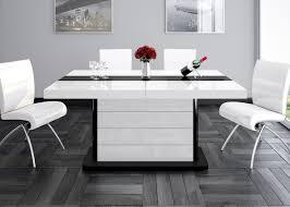 Esszimmertisch Folie Amazon De Design Esstisch He 555 Weiß Schwarz Hochglanz