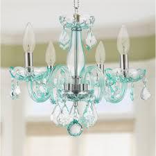 blue crystal chandelier light cb clarion 4 light chrome finish coral blue crystal chandelier