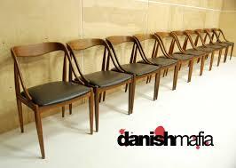 Mid Century Dining Chairs Upholstered Buy Mid Century Danish Modern Set Of 10 Teak Johannes Andersen Dining