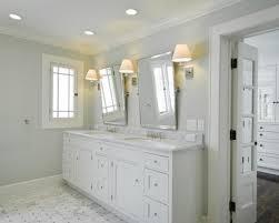 White Framed Oval Bathroom Mirror - white bathroom vanity mirror bathroom decoration