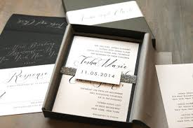 wedding invitations in a box glitter silver wedding invitations luxury metallic boxed
