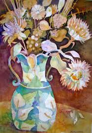 Calla Lily Vase Life 2009 Nancy Caldwell Watercolors