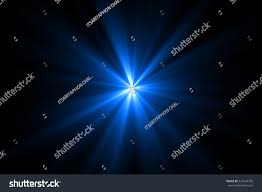 Warm Blue Color Blue Color Digital Lens Flare Black Stock Illustration 326434799